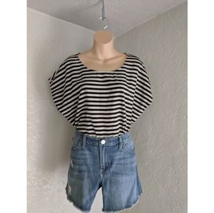 Forever 21 boxy striped shirt